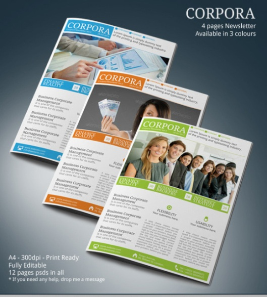 Newsletter Ideas | Print Design – Newsletter Examples – Tri Fold ...